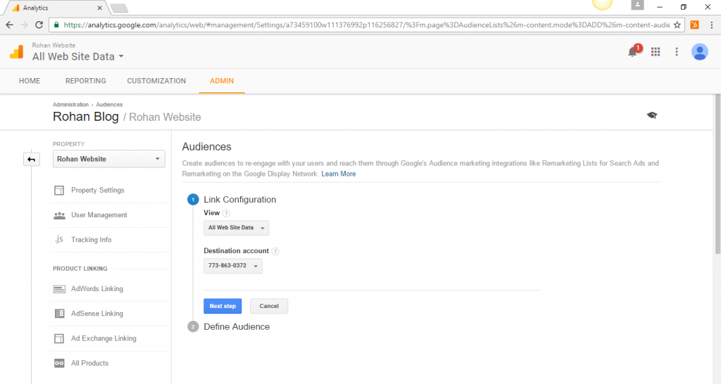Define Audience in Google Analytics