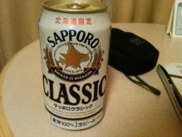 2014年9月:佐渡国際ト2010年9月:北海道旅行中にホテルの一室で飲んだ「サッポロクラシック」