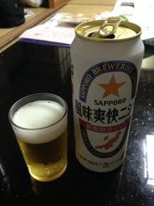 2014年9月:佐渡国際トライアスロンゴール後に旅館で飲んだ「風味爽快ニシテ」