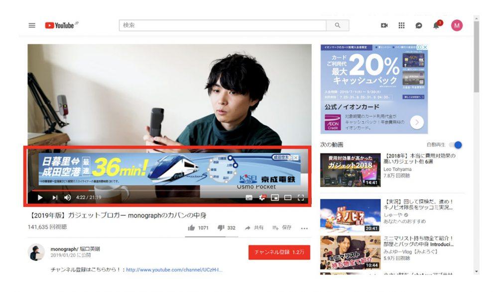 YouTube の広告フォーマット3