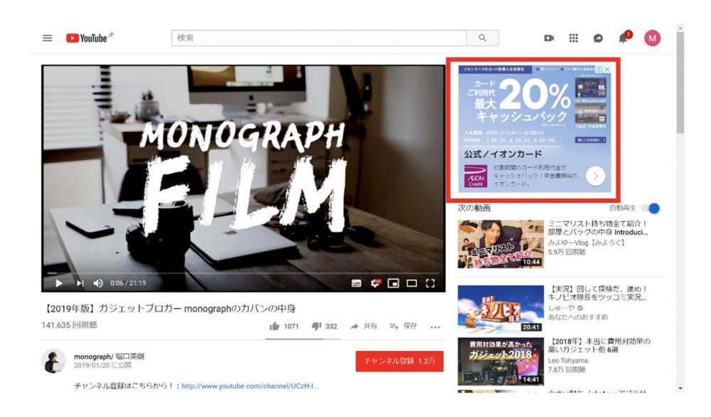 YouTube の広告フォーマット2